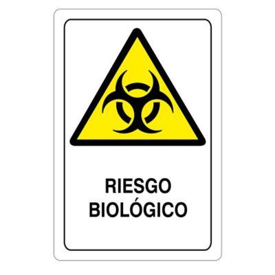 Señal Riesgo Biológico 22X15Cm Acrílico 3 Mm