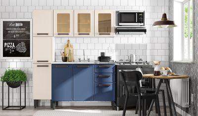 Cocina Origens 2.20m Lavaplatos Central Blue Na