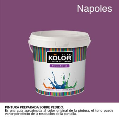 Pintura para Interior Violeta Napoles Deluxe Mate 1/2 Galón