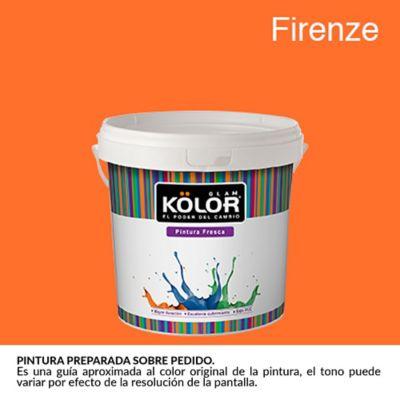Pintura para Interior Naranja Firenze Deluxe Mate 1/2 Galón
