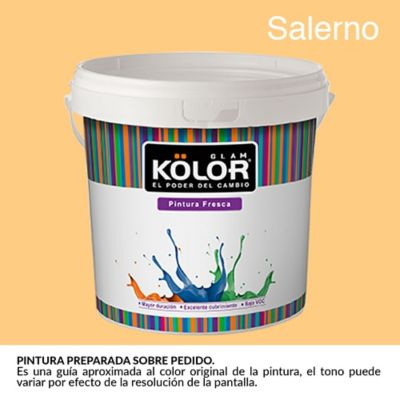 Pintura para Interior Naranja Salerno Deluxe Mate 1 Galón