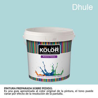 Pintura para Interior Azul Dhule Deluxe Mate 1/2 Galón