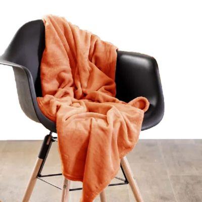 Manta Unicolor Infantil 95x115cm Naranja