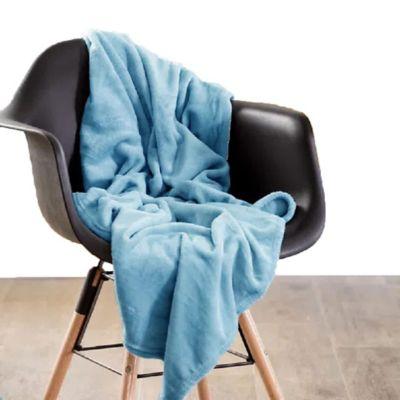 Manta Unicolor Infantil 95x115cm Azul