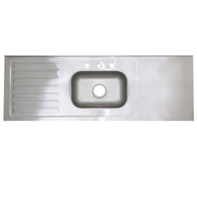 Lavaplatos Sobreponer 150x52 Acero Inox Satin Cent