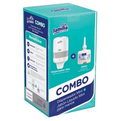 Combo Dispensador Jabon Líquido Mini x475ml