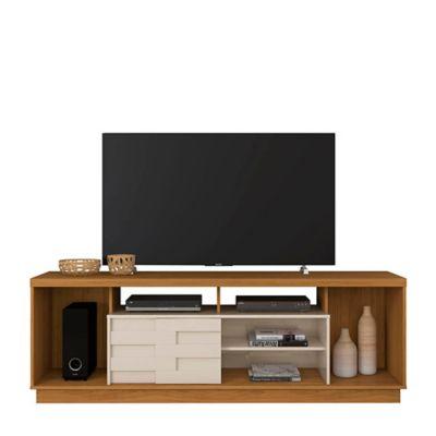 Mesa TV Adria 62.5x182x39 Natural/Blanco Apagado