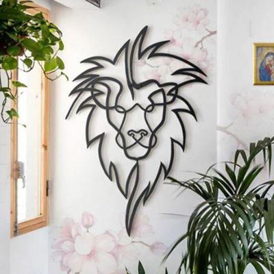 Cuadro Aplique Decorativo León Calado 70x48cm