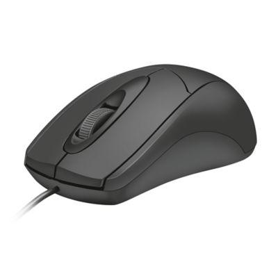 Mouse Alámbrico Óptico Negro