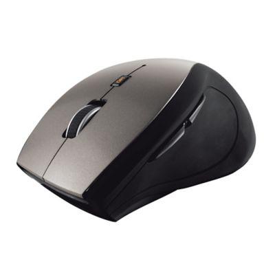 Mouse Inalámbrico USB Ergonómico Sura Negro Gris