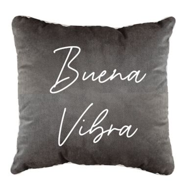 Cojín Buena Vibra 45x45 cm Gris