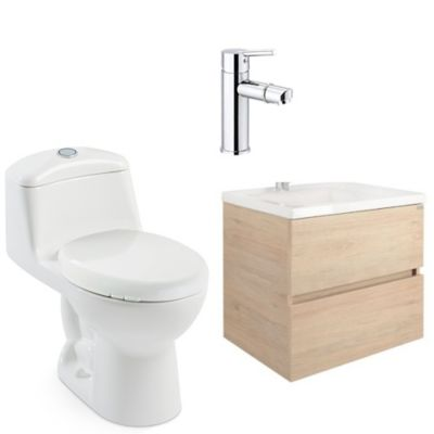 Combo de baño Tarento Rovere 60 Smart Alongado
