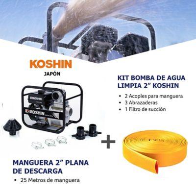 Kit Bomba Agua Limpia 2Pulg y Manguera Descarga