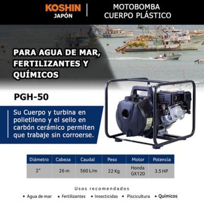 Kit Bomba Agua de Mar 2Pulg y Manguera Descarga