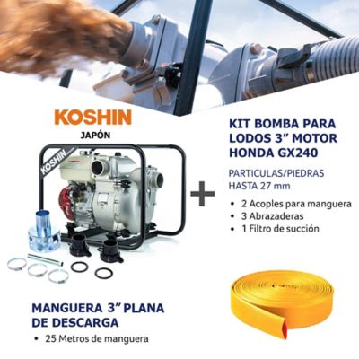 Kit Bomba Lodo/Particulas 3Pulg y Manguera Descarga