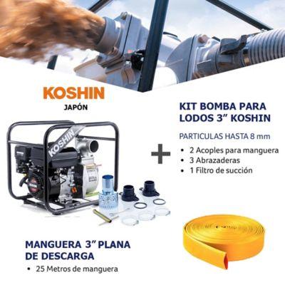 Kit Bomba Agua/Lodo 3Pulg y Manguera Descarga