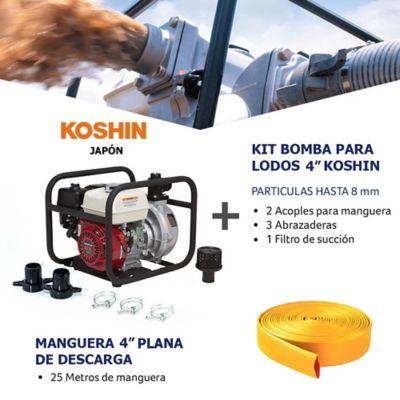 Kit Bomba Agua/Lodo 4Pulg y Manguera Descarga