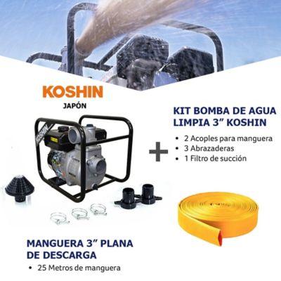 Kit Bomba Agua Limpia 3Pulg y Manguera de Descarga