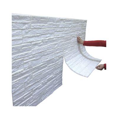 Panel Adhesivo Roca Blanca 71X77 Cm Cjx 3 Paneles