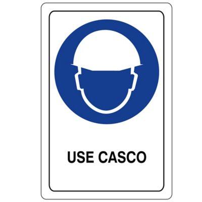 Señal Obligacion Use Casco 22X15 Acrilico 3 Mm