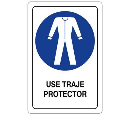 Señal Oblig Use Traje Protector 32.5X22.5Cm
