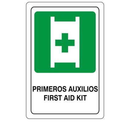Señal Evacuacion Primeros Auxilios 22X15