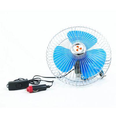 Ventilador 3 Aspas 8Pulg 12V Conexión Encendedor Az