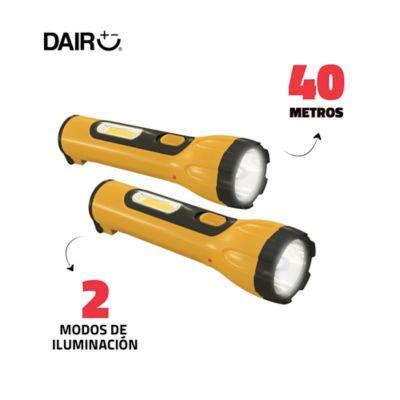 Kit x2 Linternas Recargables Alcance: 40mt 2 Modos de Iluminación