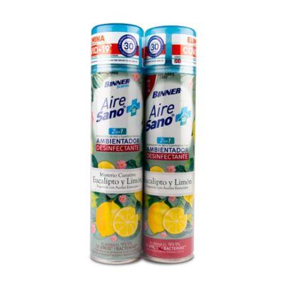 Desinfectante Aerosol Eucalipto Limon Sano 2x400ml