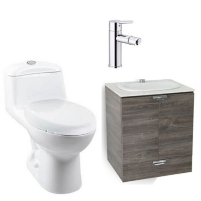 Combo de baño Cascade Sobreponer Smart Single Alongado