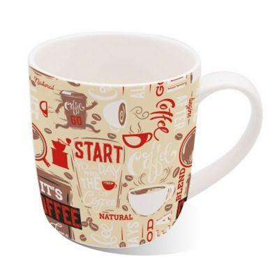 Mug Porcelana 13oz Cofee Vintage