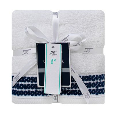 Set x2 Toallas Para Manos Carps 40x70 cm 500 Gr Blanco/Azul