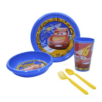Set Baby Lunch + Vaso 9  Onzas Cars