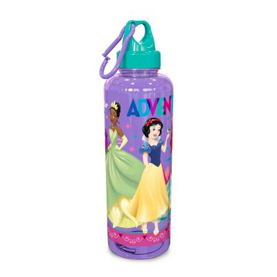 Botella Cilíndrica 24 Onzas Tap Mosquetón Princesas