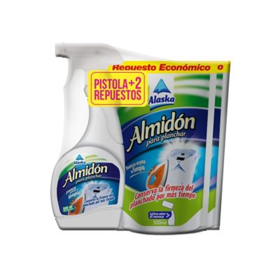 Almidon para Planchar Alaska 500ml + 2 Doy Pack 500ml