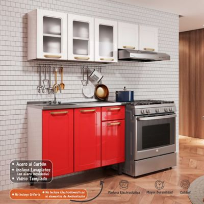 MP COCINA INTEGRAL COLORS 1.75 M ROJO CO