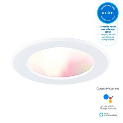 Panel Led Redondo Inteligente Wi-Fi Luz Fría Y Cálida + Colores