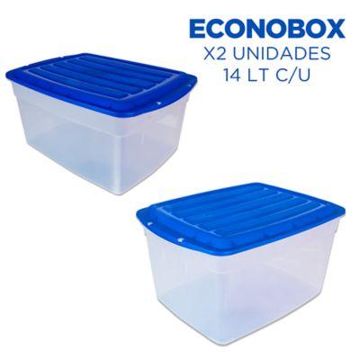 Set x 2 Cajas Econobox 14 Lt