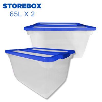 Set x 2 Cajas Storebox 65 Lt Azul