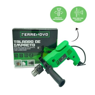 Taladro Percutor 1/2 pg 550W Uso Doméstico Ferrenovo