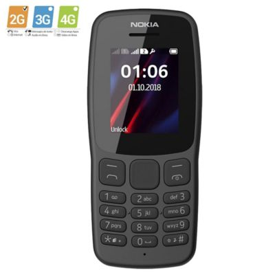 Celular Nokia 106 Gris