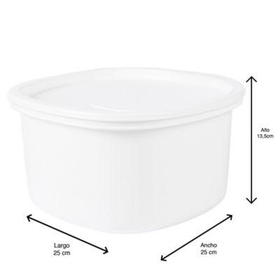 Recipiente Plus Cuadrado 4.5 Litros Blanco Congelacion
