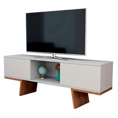 Mesa de TV Estambul 156x56x35 Blanco/Marron