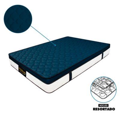Colchón Semidoble 120x190 Resortado Dublín Azul