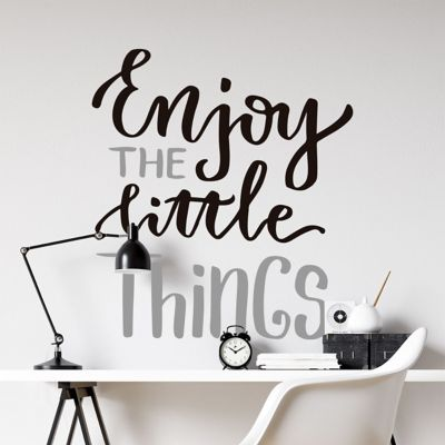 Vinilo de Texto Enjoy The Little Things