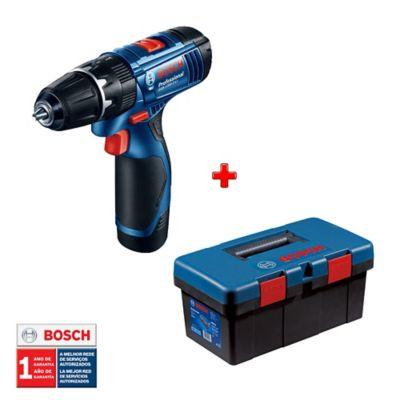 Taladro Percutor 3/8-pulg 12V 2.0 Ah GSB 120-LI + Caja De Herramientas Tool Box