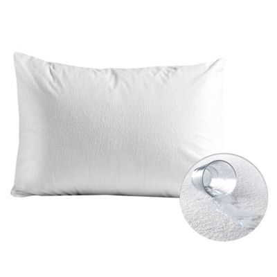 Set Almohada 45x65 cm Antibacterial + Protector Impermeable Terry