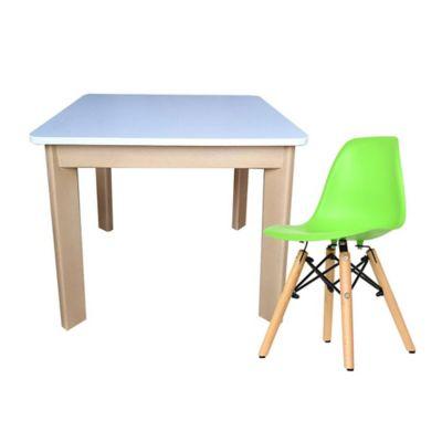 Mesa Infantil Cuadrada + Silla Eames Kids Verde