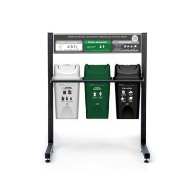 Punto Ecologico 3 Puestos 10 Litros Reciclable Aprovechable