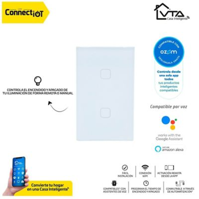 Interruptor Doble Inteligente Connect Iot VTA APP ZM